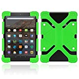 FINDING CASE for Amazon Kindle Fire 7 Alexa,(7' Tablet, 5th Gen 2015 and 7th Gen 2017 Release),Slim Soft Silicone Shockproof Cover Case Also Suitable for other 7' AMAZON kindle Fire versions (Green)