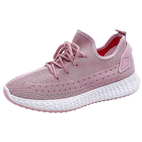 JUSTWIN Fashion Casual Breathable Outdoor Fitness Running Shoes Leisure Mesh Outdoor Fitness Sport Sneakers Pink