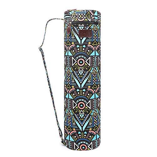 (Fremous Yoga Mat Bag,Full-Zip Exercise Yoga Mat Carry Bag for Women and Men - Double Storage Pocket,Easy Access Zipper, Adjustable Shoulder Strap and Handle,Fits Most Mats(Blue)
