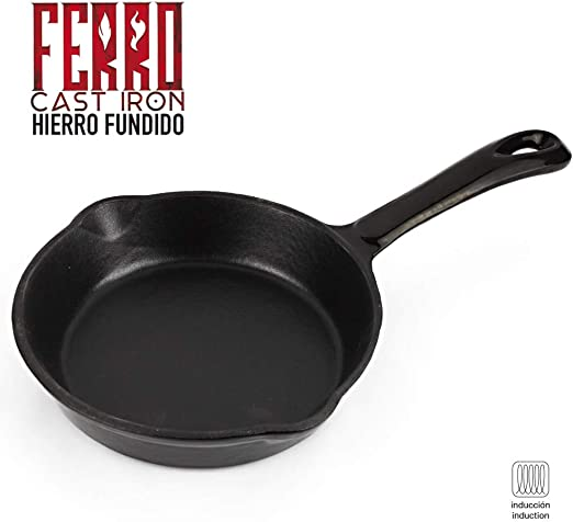 Sarten de Hierro fundido Ferro by Sergi AROLA, óptima retención y ...