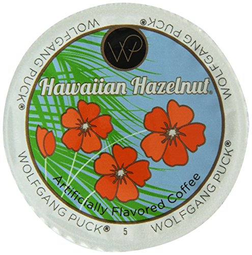 Wolfgang Puck Hawaiian Hazelnut Flavored Coffee Single Serve Cups for Keurig, 24 Count