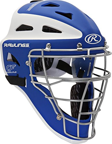 Rawlings Sporting Goods Youth Velo Series Catchers Helmet, Royal/White, 6 1/2-7'' by Rawlings
