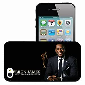 Personalized iPhone 4 4S Cell phone Case/Cover Skin Cleveland cavaliers cleveland cavaliers nba mvp lebron james nba most Black