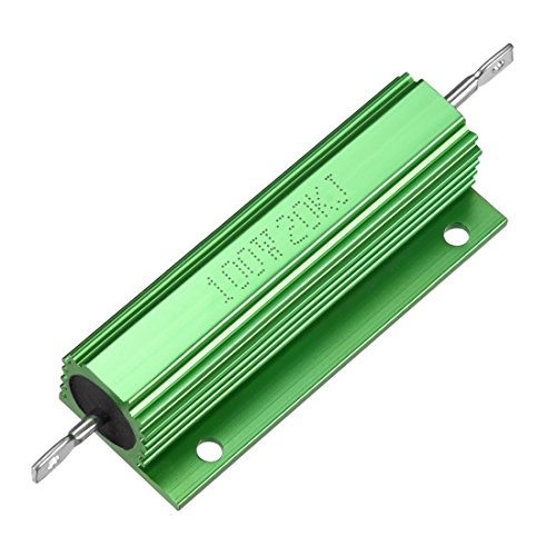 uxcell Aluminum Case Resistor 100W 20k Ohm Wirewound Green for LED Replacement Converter 100W - Wirewound Resistors Ohm