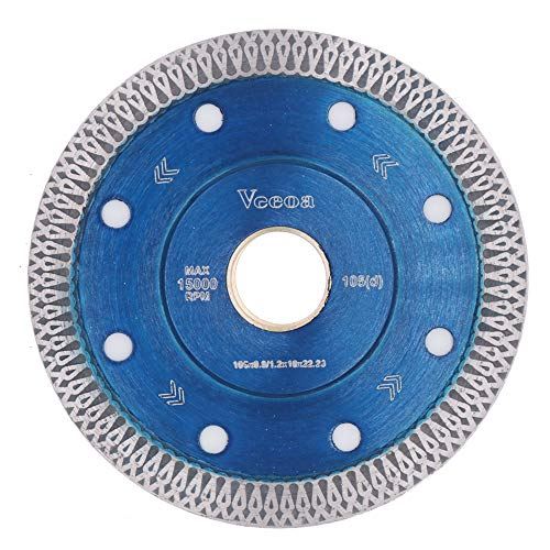 Vceoa 4 Inch Super Thin Diamond Saw Blade for Cutting Porcelain Tiles,Granite Marble Ceramics (4,Blue)