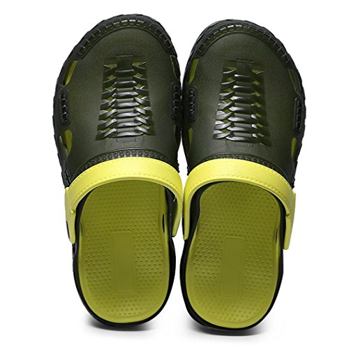 VEMOW Running Shoes for Men, Sneakers Trainers Lace-up Flats Flip Flops Thongs Espadrilles Wedge Sports Gym Outdoor Walking Hiking Workout, Casual Sandals Beach Slippers Green