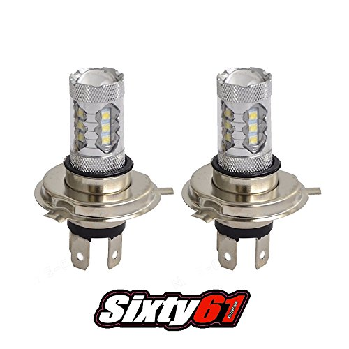 Sixty61 LED Headlight Bulbs for Suzuki King Quad 400 500 750 HID 35W White High Power