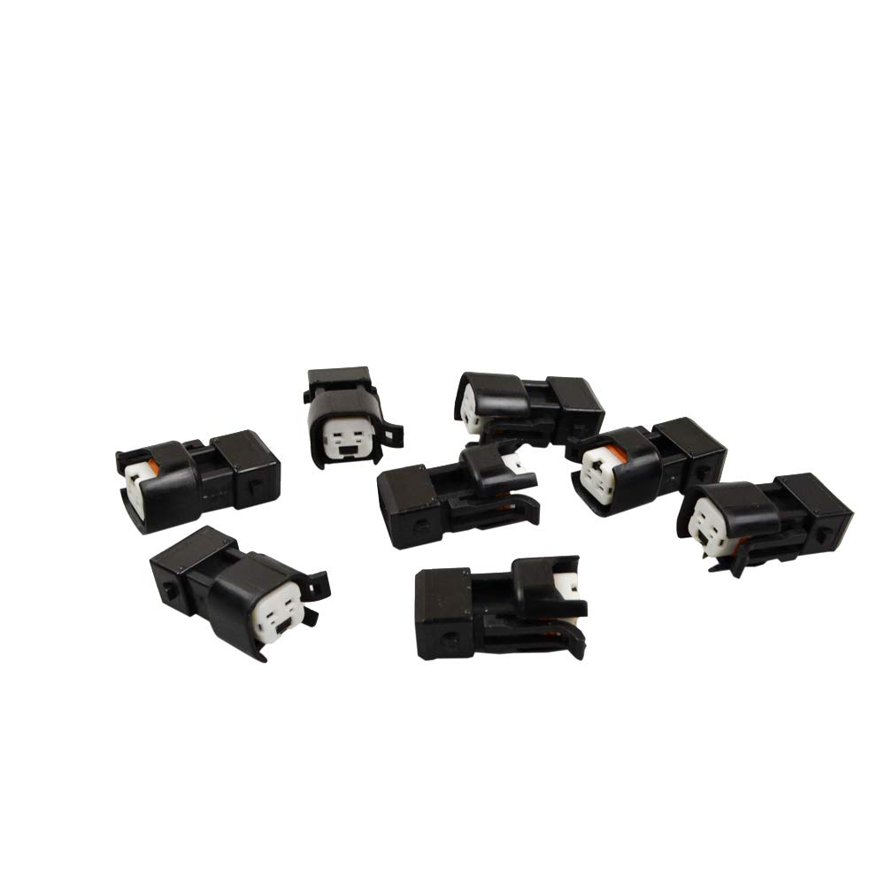 FLYPIG 8 PCS EV6 /& EV14 Female To EV1 Male Fuel Injector Connectors Adapters