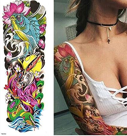 Tatuajes Temporales Adultos Dorados Pierna Completa Del Brazo ...