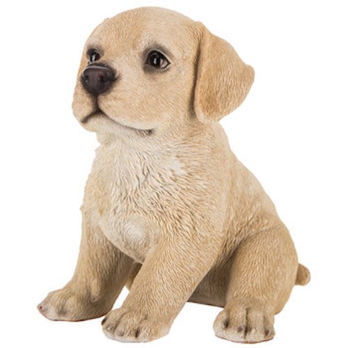 Yellow Lab Labrador Puppy Dog Resin Figurine Table Top Piece (Yellow Labrador Dog Figurine)