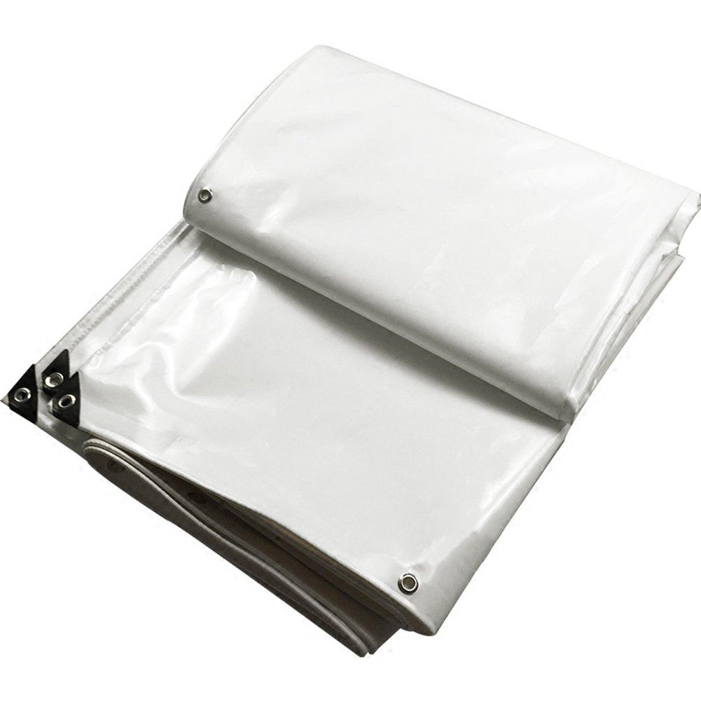 ZEMIN オーニング サンシェード ターポリン 防水 日焼け止め テント シート ルーフ 防風 カバー 有用 保護 ポリエステル、 白、 600G/10サイズあり (色 : 白, サイズ さいず : 5X7M) B07D1M2798  白 5X7M