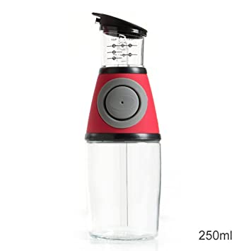 GARDEN botellas del condimento Botella de aceite de vidrio medible Botella de aceite Botella de aceite
