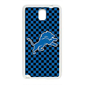 NFL Detroit Lions White Phone Case for Samsung Galaxy Note3