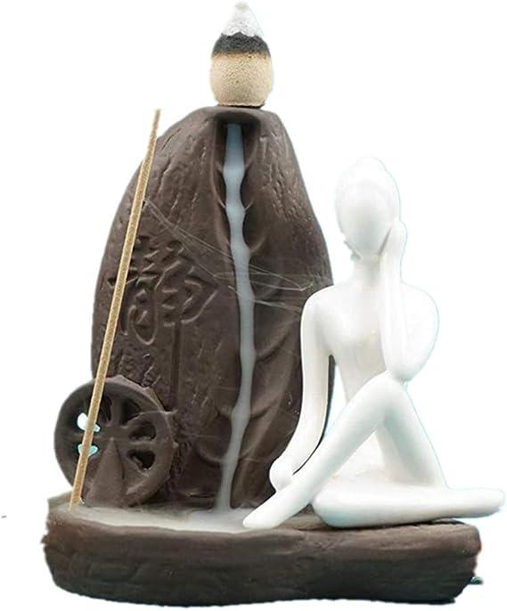 手作りのお香香炉バックバーナーアロマセラピーは、滝の還流家の装飾、置物のキャンドル