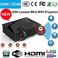Smart Products UNIC UC46 Portable 1080P 800x480 Resolution WiFi LED Projector