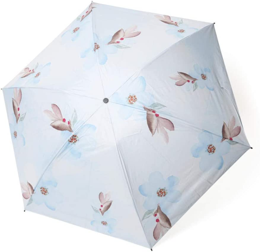 YSCY Portable/Umbrella Tri-fold Nine-in-one Version of The Inversion Easy to Open The Floral Folding Umbrella Craft/Umbrella,Radiation/Protection,UV/Protection,Rust/Prevention,Wind/Protection.