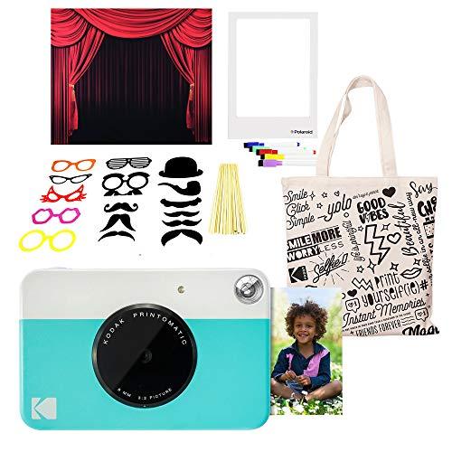 - Kodak PRINTOMATIC Instant Print Camera (Blue) Photo Booth Kit