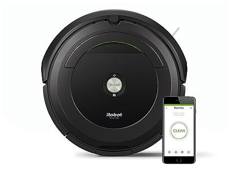 iRobot Roomba 696 Negro aspiradora robotizada wifi - aspiradoras robotizadas (Negro, Alfombra, Suelo duro, 93 mm, 335 mm, 335 mm, 3,56 kg)