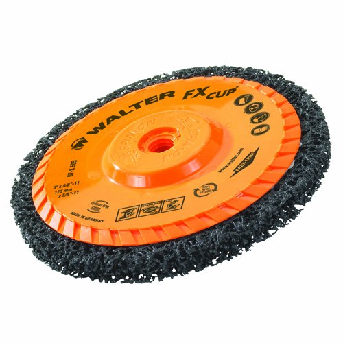 Walter FX Cleaning Abrasive Spin-On Cup Disc, Type 27, 10500 Maximum RPM, 4-1/2'' Diameter x 3/4'' Width, 5/8''-11 Arbor (Pack of 5) by Walter Surface Technologies