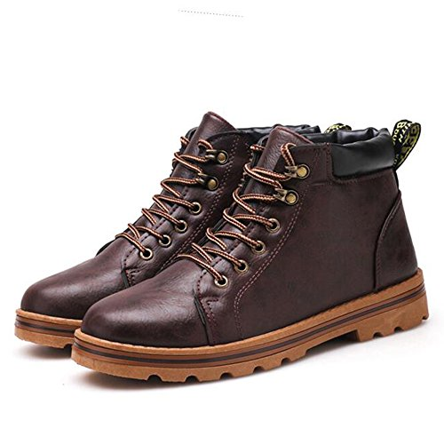 Men's Shoes Feifei Winter Fashion Keep Warm Non-Slip Martin Boots 3 Colors (Size Multiple Choice) (Color : 01, Size : EU43/UK9/CN44)