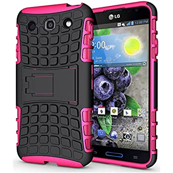 LG Optimus G Pro Case, Kuteck LG Optimus G Pro E980 / E940 Dual Layer Armor TPU Cover Case with Kickstand, Bonus 1x Stylus Pen (Pink)
