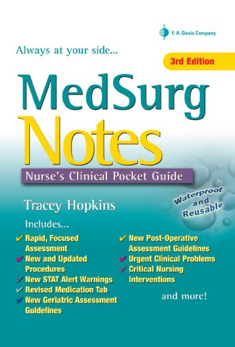 MedSurg Notes Nurse's Clinical Pocket Guide (Nurse's Clinical Pocket Guides) Pdf