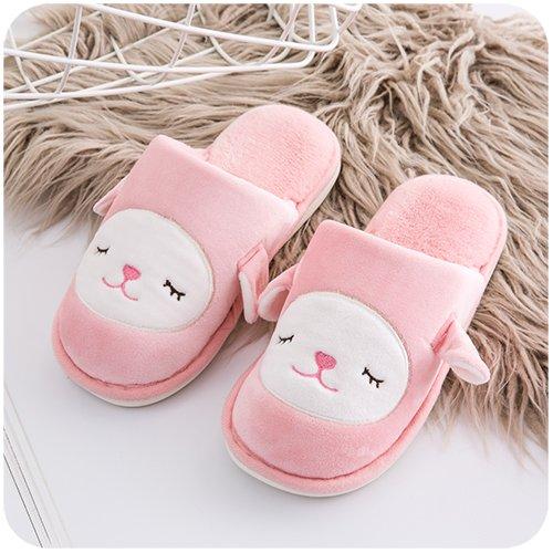 L'automne et l'hiver Chaussons en coton pour les hommes et les femmes à la maison avec le paquet d'intérieur avec un joli couple Mao Yue Yue glissante chaud chaussures, 43-44 (code standard), des modèles 70%OFF