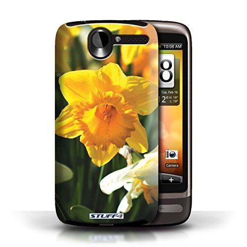Etui / Coque pour HTC Desire G7 / jonquille conception / Collection de floral Fleurs
