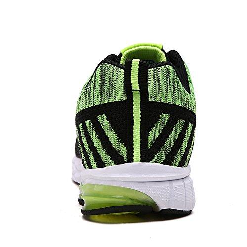 Verde Sneakers Running Basse da Arancione Nero Uomo Scarpe Ginnastica Fitness Sportive Fexkean Outdoor Verde Tennis Rosso O4xv1wIqEY