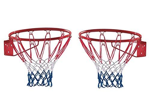 TraderPlus Heavy Duty Basketball Net Nylon Basketball Rim Goal Fits Standard Indoor or Outdoor Basketball Hoop, 12 Loop (2 Pack)