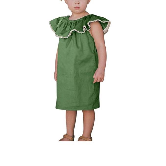 Xshuai - Pijamas enteros - para bebé niña Verde verde 12 Meses