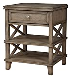 Alpine Furniture Nightstand in French Truffle Finish
