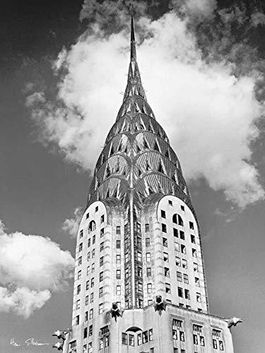 Chrysler Silberman Building Henri - Studio B Prints Top of Chrysler Building by Henri Silberman 23.75