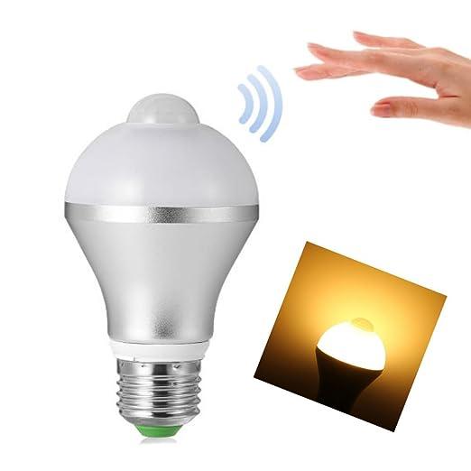 Luz Bombilla hangang 9 W Sensor de movimiento luz bombilla E26/E27 9 W PIR sensor ...