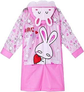 Mxssi Unisex in PVC con Cappuccio Antipioggia per Bambini Impermeabile Kids Funny Raincoat Cartoon Rain Coat Jacket Raincoat