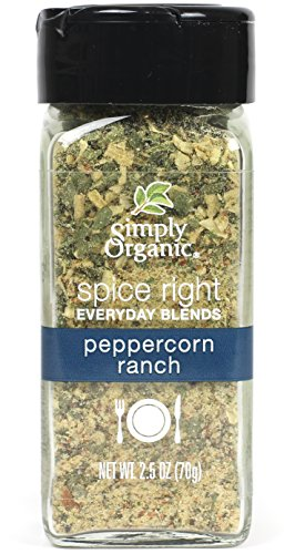 (Simply Organic Spice Right Everyday Seasoning Blends, Peppercorn Ranch, 2.5 Ounce)