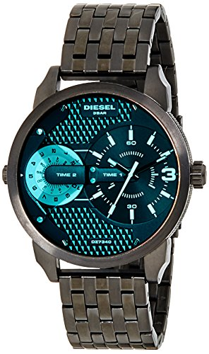 (Diesel Men's DZ7340 Mini Daddy Black Stainless Steel Bracelet Watch )