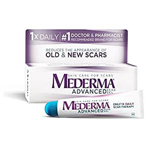 Mederma Advanced Scar Gel - 1x Daily: Use less, save more - Reduces the Appearance of Old & New Scars - #1 Doctor & Pharmacist Recommended Brand for Scars -0.7 ounce