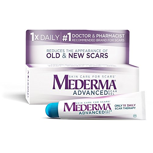 Mederma Advanced Scar Gel - 1x Daily: Use less, save more - Reduces the Appearance of Old & New Scars - #1 Doctor & Pharmacist Recommended Brand for Scars - 0.7 ounce (Best Treatment For Red Acne Scars)
