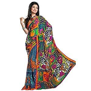 Shilp-Kala Chiffon Printed Multi Colored Sarees SKN31006B