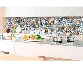 Küchenrückwand Folie selbstklebend PORTUGIESISCHE FLIESEN 350 x 60 ...