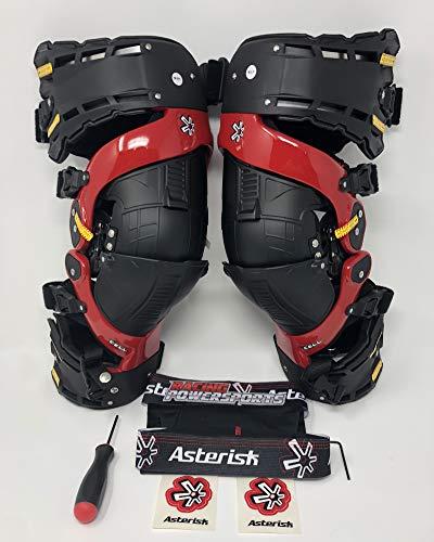 Asterisk Cell Knee Brace - ASTERISK ULTRA CELL KNEE BRACES 2018 MODEL RED PAIR XL SIZE