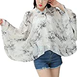 Sun Protective Clothing - Summer Chiffon Shawl Beach Coats Jackets-A6