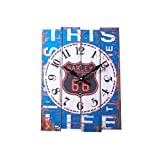Konigswerk Shabby 15.3'' x 12'' Real Wood Wall Clock (College)