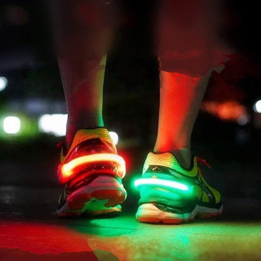 Moda Led Scarpe Clip Luci Sport Segnale Luminoso Di Sicurezza Per Esterni Luce Di Avvertimento Notte Usb Ricarica Per Correre Giallo