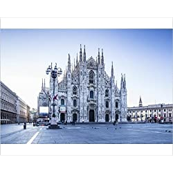 Photographic Print of The Duomo di Milano (Milan Cathedral), Milan, Lombardy, Italy, Europe