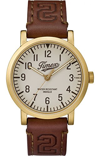 (Timex Originals University Cream Dial Leather Strap Men's Watch TW2P96700)