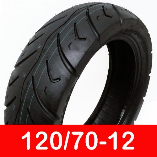MMG Tire Size 120/70-12 (P116) Motorcycle Scooter Tubeless Street Performance DOT Approved by MMG