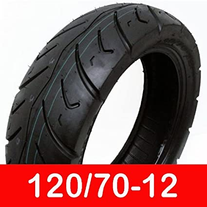 Amazon.com: Tire tamaño 120/70 – 12 de moto sin cámara ...