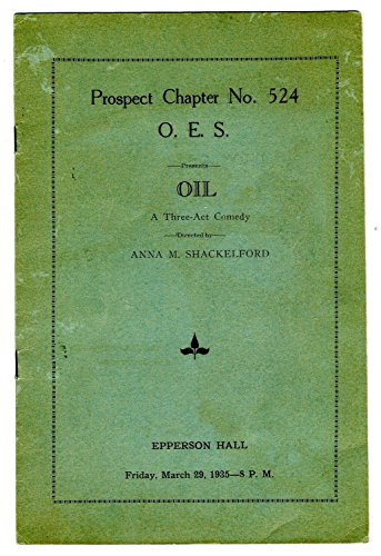 Prospect Chapter 524 Order Eastern Star 1935 Program OIL Kansas City